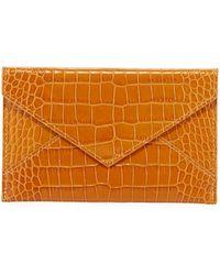 Graphic Image Medium Crocodile-embossed Leather Case - Metallic