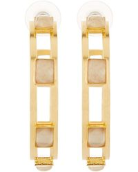 Stephanie Kantis | Monaco White Quartz Hoop Earrings | Lyst