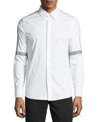 Karl Lagerfeld - Men's Tape-striped Poplin Sport Shirt - Lyst