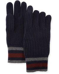 Neiman Marcus - Men's Cashmere Striped Gloves - Lyst