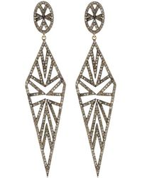 Bavna   Geometric Diamond Kite Drop Earrings   Lyst