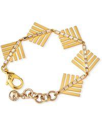 Lulu Frost Cascadia Pine Bracelet W/ Crystals - Metallic