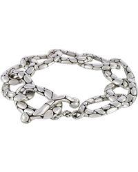 John Hardy - Kali Pebbled Flat Link Bracelet - Lyst