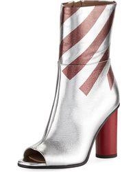 Anya Hindmarch - Metallic Striped High Boot - Lyst