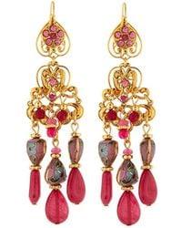 Jose & Maria Barrera - Hearts & Filigree Drop Earrings - Lyst