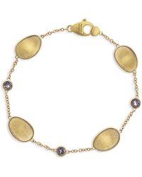 Marco Bicego Lunaria 18k Yellow Gold & Gray Diamond Bracelet - Metallic