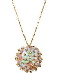 Lele Sadoughi - Crystal & Sequin Poppy Pendant Necklace - Lyst