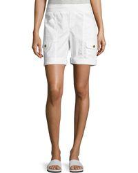 XCVI - Clarissa Poplin Cargo Shorts - Lyst