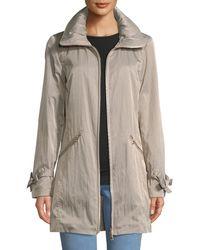 Karl Lagerfeld - Zip-front A-line Crinkle Packable Jacket - Lyst