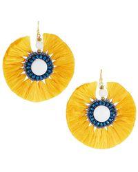 Nakamol - Circle Fringe Drop Earrings - Lyst
