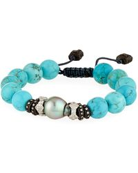 Armenta | New World Adjustable Magnesite & Pearl Bracelet | Lyst