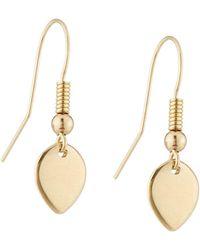 Alex Woo - Siri 14k Gold Leaf Drop Earrings - Lyst