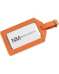 Neiman Marcus - Pebbled Luggage Tag (unboxed) - Lyst