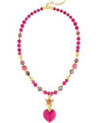 Jose & Maria Barrera - Heart Y-drop Pendant Necklace - Lyst