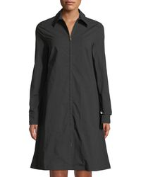 Tomas Maier - Double-zip Collared A-line Dress - Lyst
