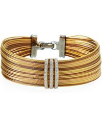 Alor - Noir Stacked Bracelet W/ Linear Diamonds - Lyst