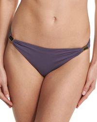 Lazul Maia Gathered-side Swim Bikini Bottom - Purple
