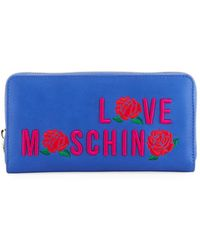 Love Moschino - Logo-embroidered Zip Wallet - Lyst