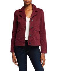 Bagatelle Cotton Flap Pocket Blazer - Red