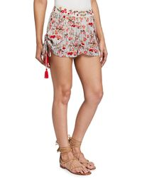 Raga Primrose Mixed Print Shorts With Side Ties - Multicolor