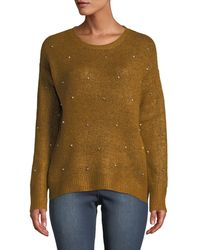 Dex - Pearly-stud Relaxed-fit Sweater - Lyst