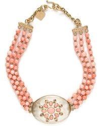 Ashley Pittman - Triple-strand Coral & Light Horn Necklace - Lyst
