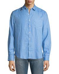 Neiman Marcus - Garment-washed Linen Sport Shirt - Lyst