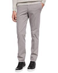 Ermenegildo Zegna - Flat-front Garment-washed Pants - Lyst