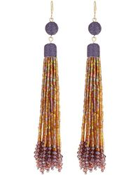 Lydell NYC - Linear Tassel Drop Earrings - Lyst