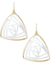Devon Leigh - Mother-of-pearl Filigree Drop Earrings - Lyst