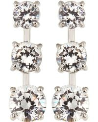 Fantasia by Deserio - Cz Triple-stone Gradient Dangle & Drop Earrings - Lyst