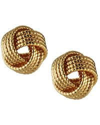Lydell NYC - Textured Twist Stud Earrings - Lyst