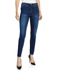 Nicole Miller High-rise Skinny Jeans - Blue