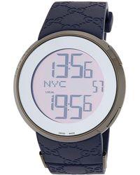 b986698ce33 Gucci - 44mm I- Xl Digital Men s Watch W  Rubber Strap Blue - Lyst