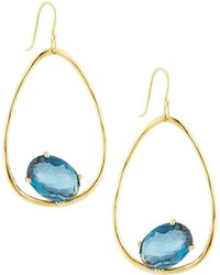 Ippolita - 18k Rock Candy Large Suspension Earrings In London Blue Topaz - Lyst