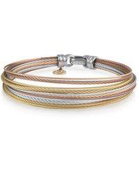 Alor Classique Multi-row Micro-cable Bangle Bracelet Bronze Multi - Metallic
