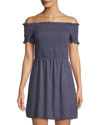 MINKPINK - Off-the-shoulder Spotty Mini Dress - Lyst
