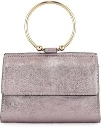 MILLY - Metallic Ring Flap Crossbody Bag - Lyst