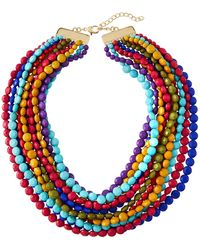 Kenneth Jay Lane - Multi-row Colorful Beaded Necklace - Lyst