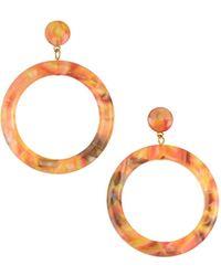 Lele Sadoughi - Marquis Front-hoop Earrings Brown - Lyst