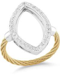 Alor - Open Diamond Pave Teardrop Ring - Lyst
