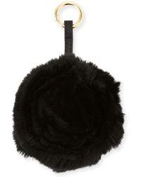 Adrienne Landau - Spiral Rabbit Fur Rosette Pompom Bag Charm - Lyst