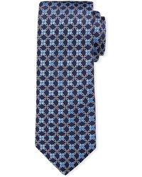 Ike Behar - Geometric Silk Tie - Lyst