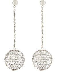 Kenneth Jay Lane | Ball & Chain Drop Earrings | Lyst