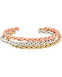 A.V. Max - Tricolor Golden Twist Cuff Bracelets - Lyst