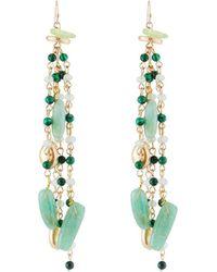 Lydell NYC - Beaded Linear Tassel Earrings - Lyst