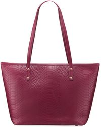 Gigi New York - Taylor Embossed Python Leather Tote Bag - Lyst