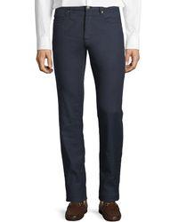 Incotex 5-pocket Chino Flat-front Pants - Gray