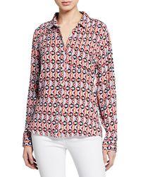 Velvet Heart - Elisa Geometric Pattern Shirttail Shirt - Lyst