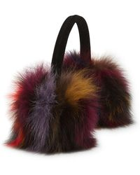 Annabelle New York - Jade Multicolor Fox Fur Ear Muffs - Lyst